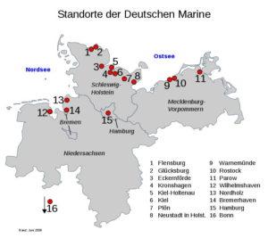 Места дислокации ВМС Германии