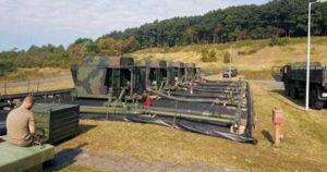 Военные трубопроводы - полевая станция высокого давления