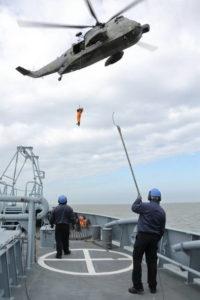 Возвращение обучаемого на борт Wangerooge