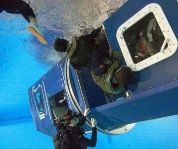 Выход под водой из тренажера