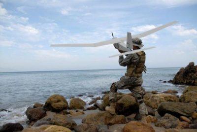 БПЛА Puma AE II запуск с руки