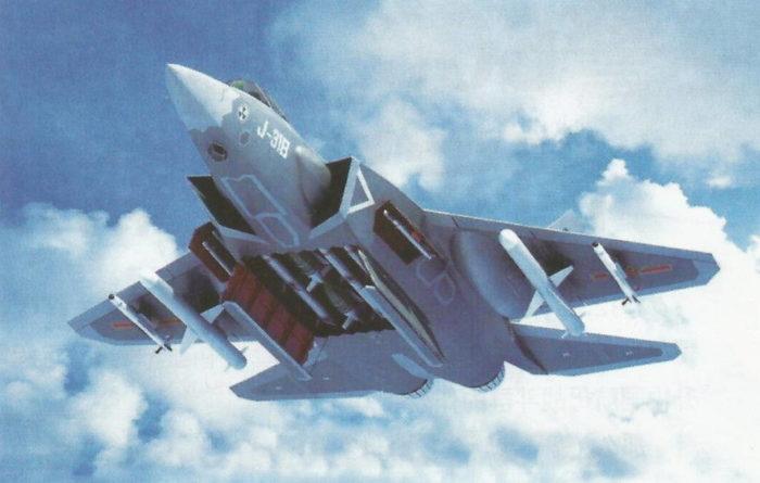 Перспективный легкий палубный истребитель «Цзянь-31В»