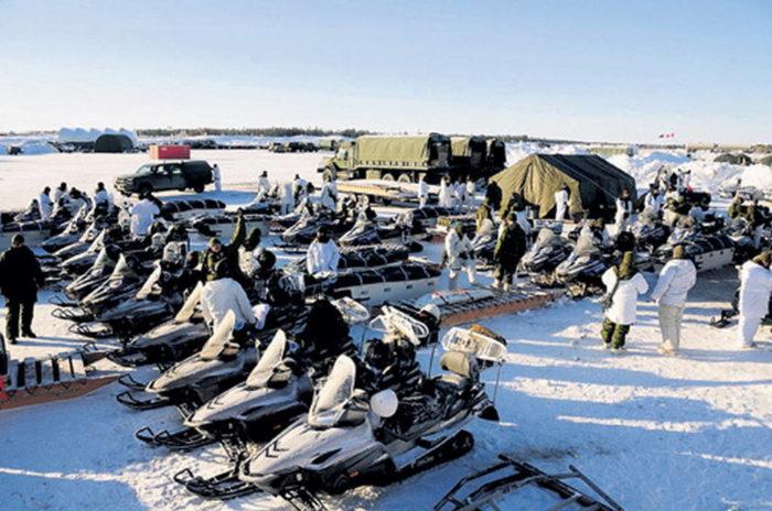 Расположение войск в условиях Арктики