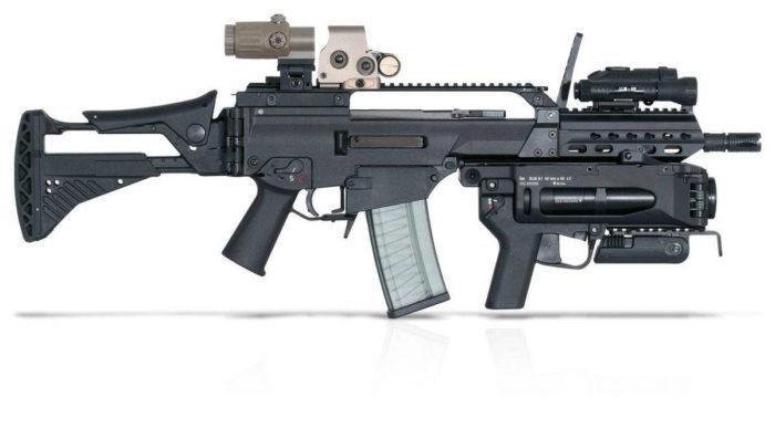 """Винтовка G36 KA3 с планкой """"Пикатини"""" оптикой и подствольным гранатометом"""