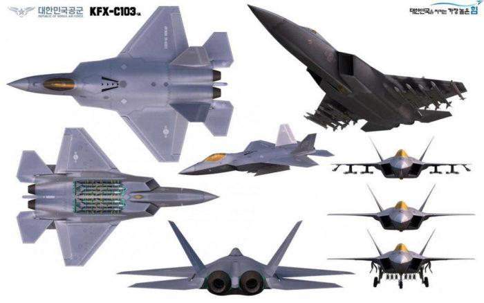 Эскиз южнокорейского самолета пятого поколения