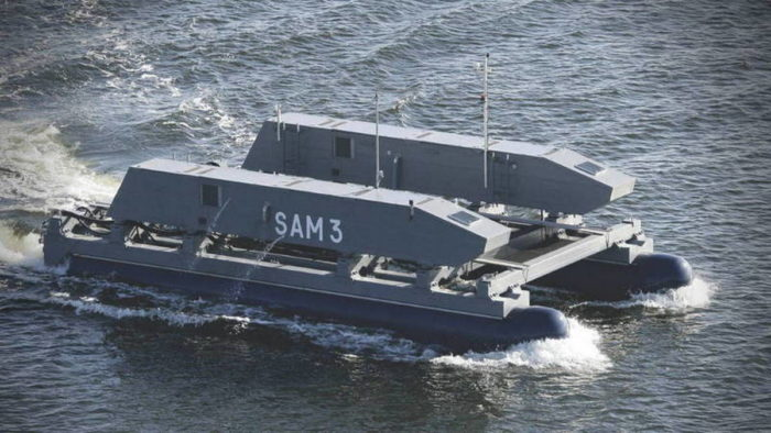 Надводный необитаемый аппарат SAM 3 от компании SAAB