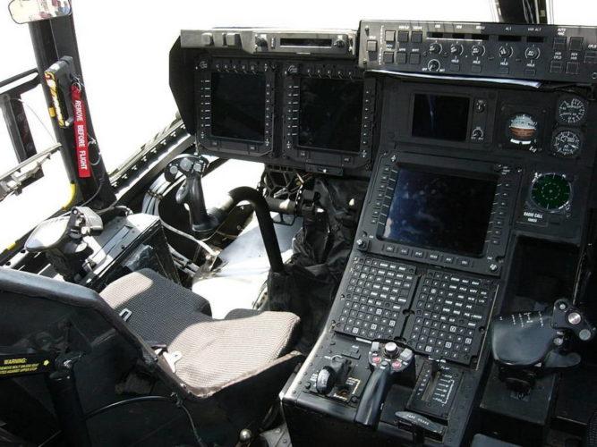 Органы управления в кабине V-22 Osprey