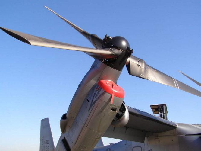 Двигатель и ротор V-22 Osprey