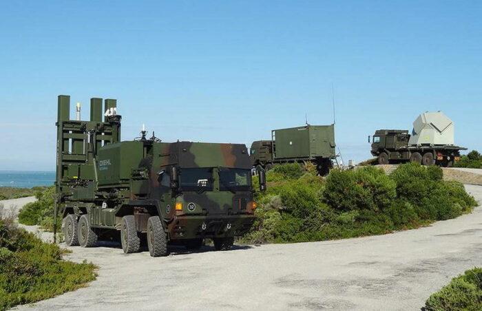 ЗРК IRIS-T SLM на огневой позиции
