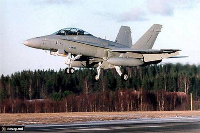 Истребитель F-18 ВВС Финляндии