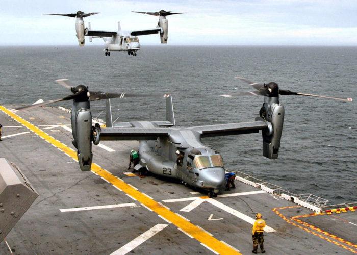V-22 Osprey на борту авианосца