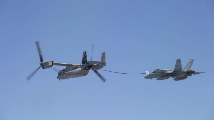 Заправка с V-22 Osprey