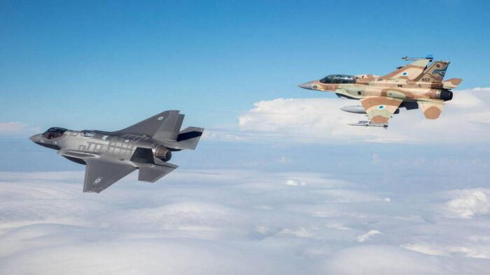 Самолеты F35 и F15I ВВС Израиля