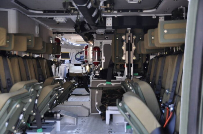 Оборудование десантного отделения БТР К808