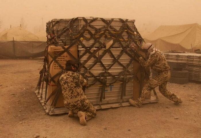 Подготовка грузовой платформы к десантированию