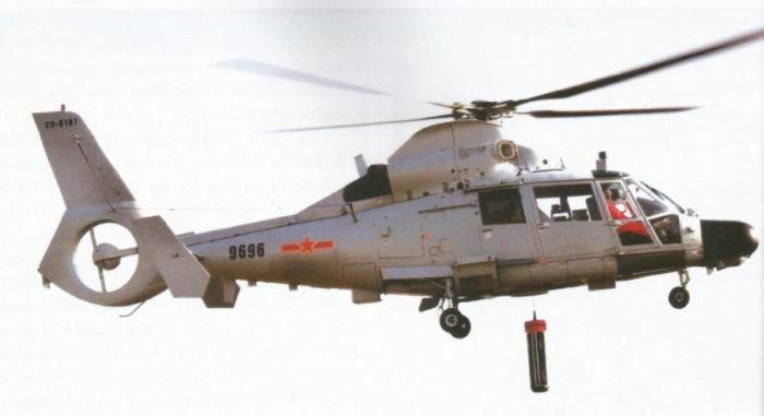 Спуск ГАС вертолетом ПЛО Z-9