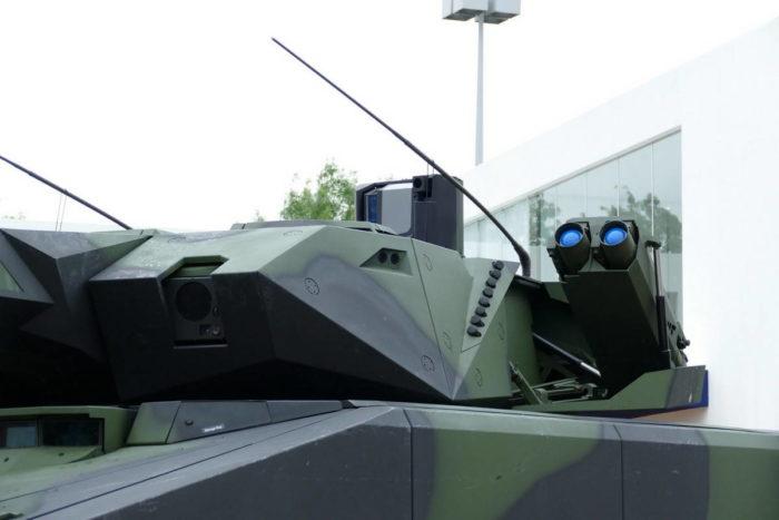 Пусковая установка ПТУР «Spike-LR» в открытом положении