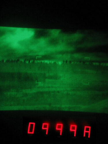 Зеленый монохромный дисплей тепловизора WBG-X