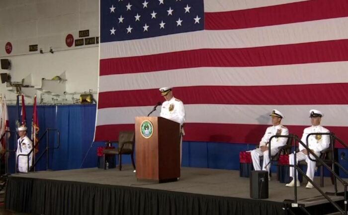 Церемония возрождения 2 флота ВМС США