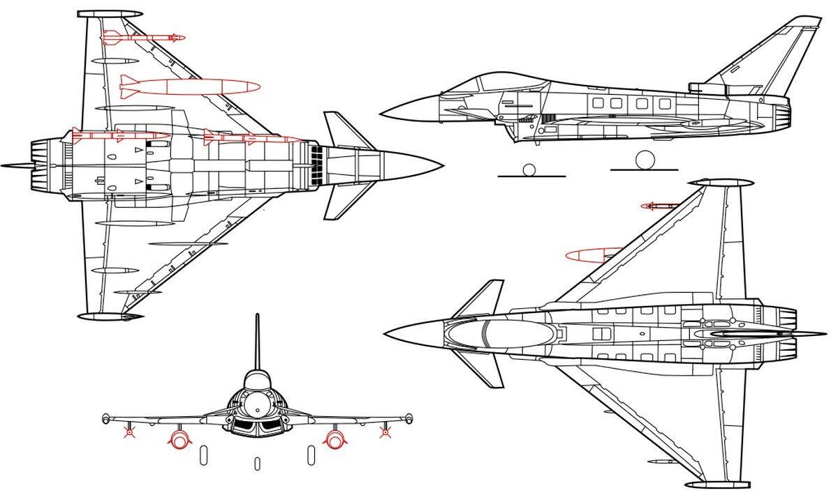 Проекции самолета