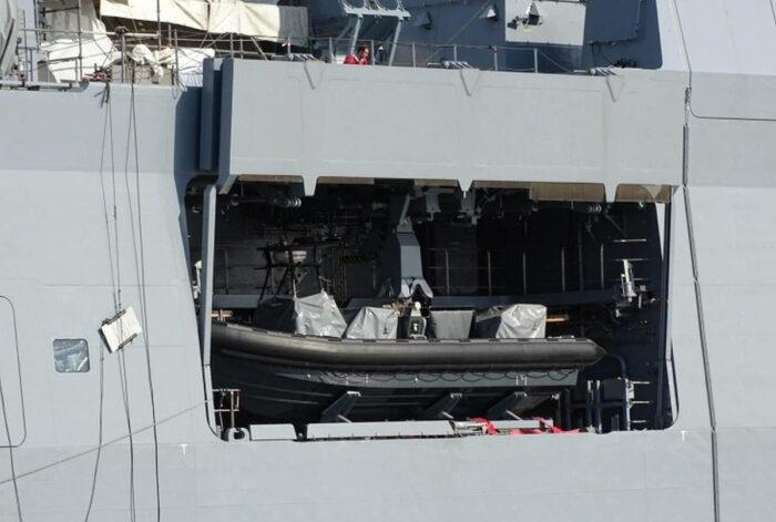 Отсек для размещения штурмовой лодки