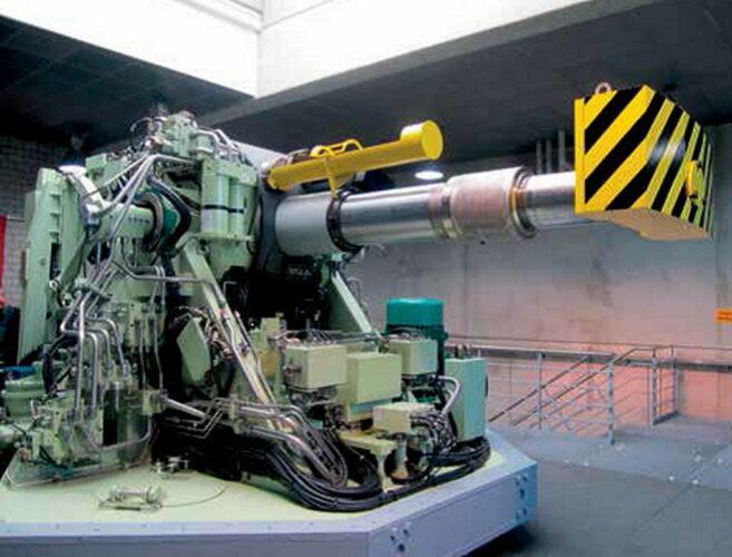 """Учебная установка 127 мм орудия """"Ото Мелара"""" в военно-морском техническом училище в г. Паров"""