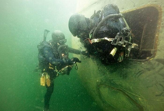 Отбор и подготовка боевых пловцов бундесвера
