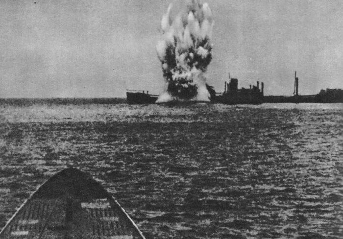 Атака немецкой пл английского транспорта