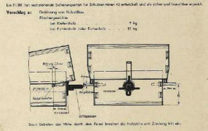 """Схема противопехотной """"S-Mine 42"""" в деревянном корпусе"""