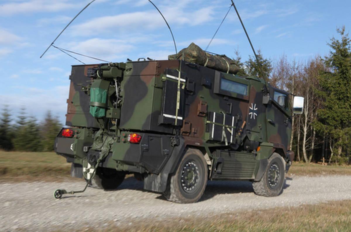Машина РХБР для аэромобильных сил бундесвера
