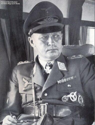 Первый командующий воздушно-десантными войсками вермахта генерал Курт ШТУДЕНТ