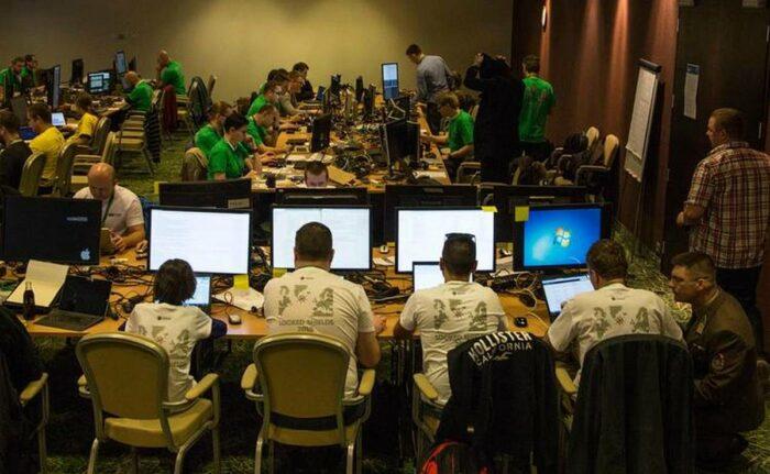Конференц-зал отеля «Лас-Вегас» во время киберучения LS 2019