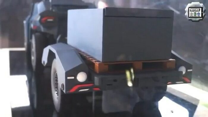 """Прицеп бронеавтомобиля """"Скарабей"""". Модель."""