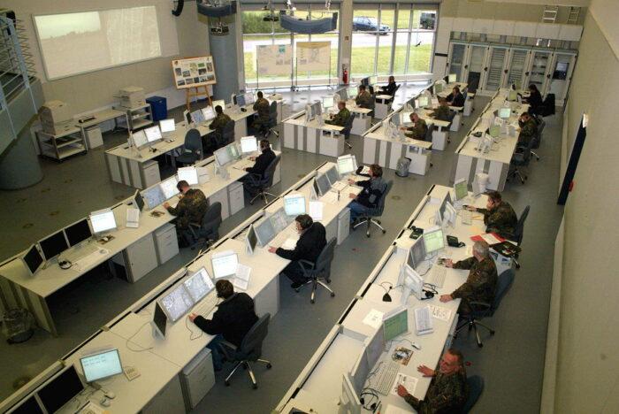 Контрольный зал центра боевого моделирования