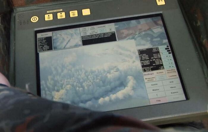 Экран пульта управления дроном