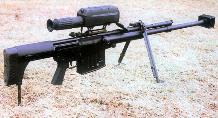 Полуавтоматическая снайперская винтовка QBU-10. Общий вид.