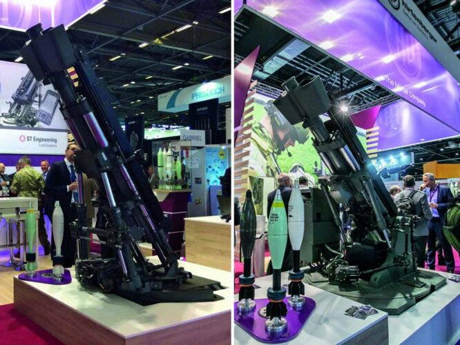 Оригинальный 120 мм миномет SRAMS (слева) и новый SRAMS Mk II (справа)