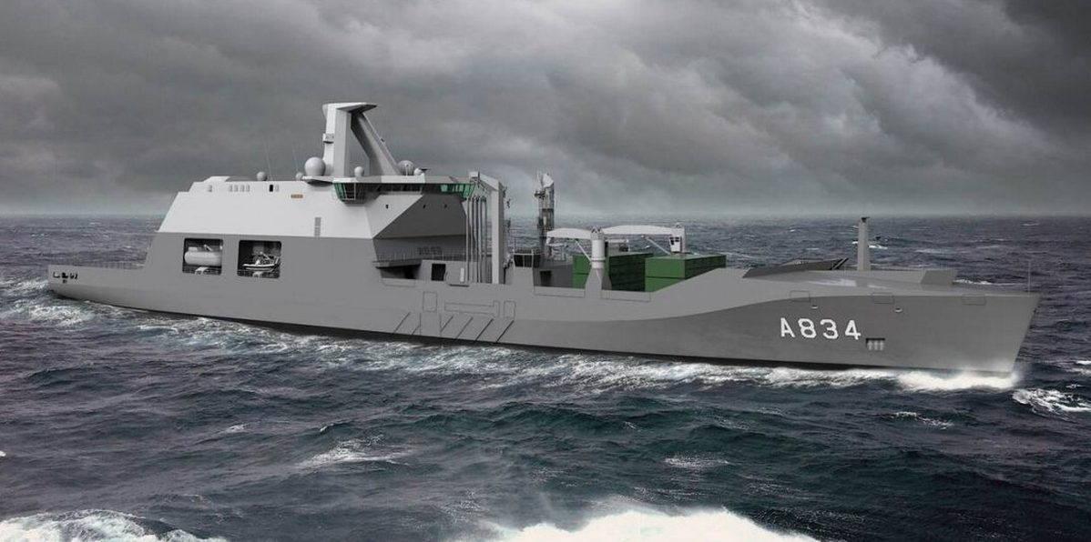 ВМС Нидерландов подтвердили строительство корабля обеспечения