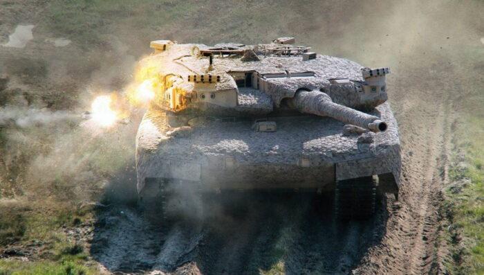 """На танке """"Леопард 2"""" датчики распознаются слева и справа. Элементы противодействия распределены вокруг башни"""