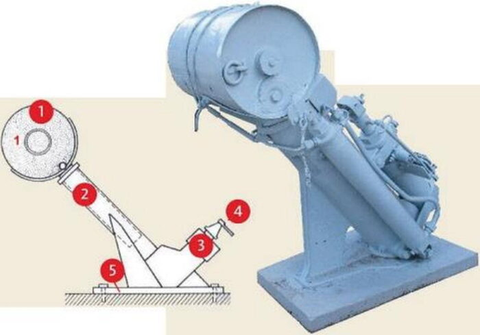 Установка для метания глубинных бомб с Mk VII Wabo