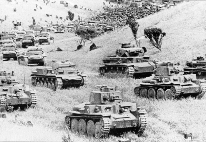 7 танковая дивизия на марше