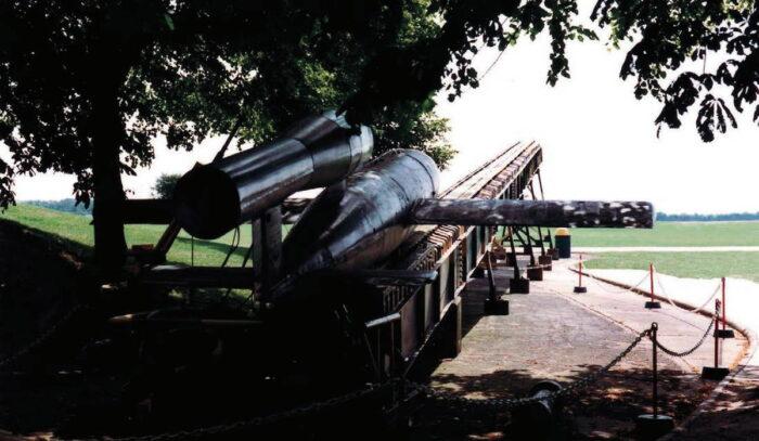 """""""Фау 1"""" на стартовой катапульте. Императорский военный музей в Дюксфорде."""