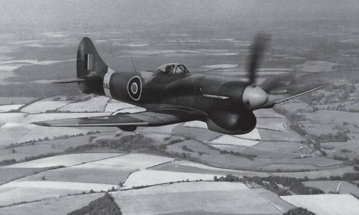 Истребитель Hawker Tempest ВВС Великобритании