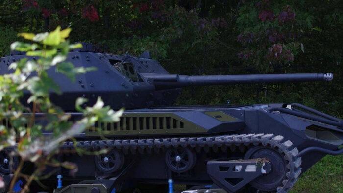 Военный робот Ripsaw M5 с оружейной башней от Kongsberg MCT-30