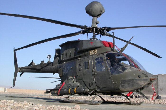 Разведывательно-ударный вертолет  Bell OH-58D Kiowa Warrior