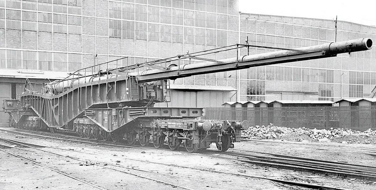 Железнодорожная пушка вермахта К12
