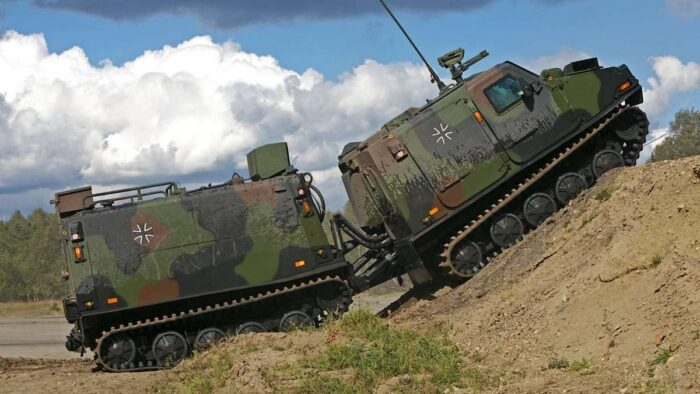 БТР BvS 206S Haegglunds ВС Германии