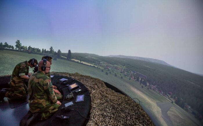 Отработка действий группы объединенной тактической огневой поддержки на боевом симуляторе