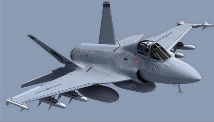 Истребитель ВВС Пакистана JF-17 BlockII