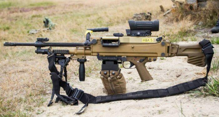 Современный пулемет HK121